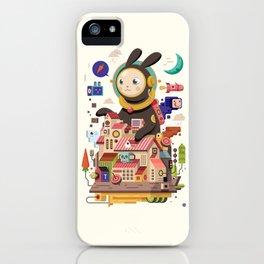 Space rabbit iPhone Case