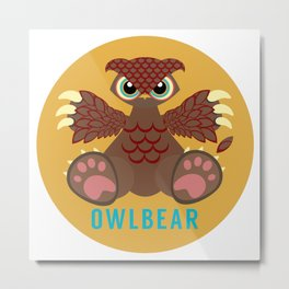 Owlbear! Metal Print