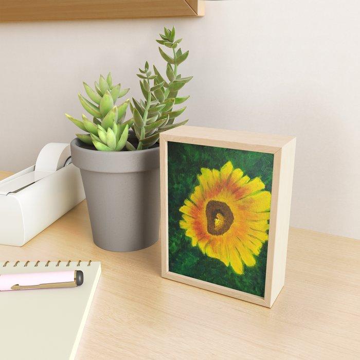 Sunflower in the Garden Framed Mini Art Print