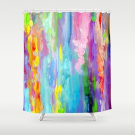 colorful icicles Shower Curtain