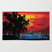 safari Area & Throw Rugs featuring Safari  by Cindys