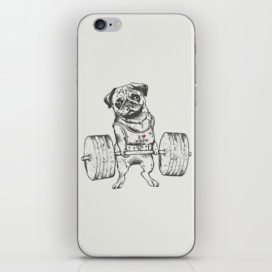 Pug Lift iPhone & iPod Skin