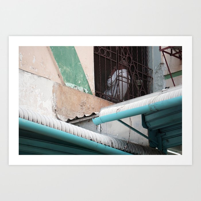 Smoking Blue Art Print