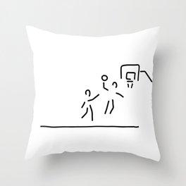 basketball usa basketball player Throw Pillow