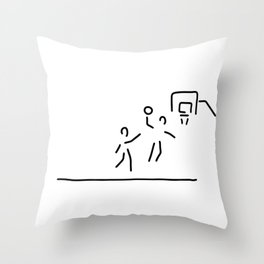 basketball usa basketball player Throw Pillow