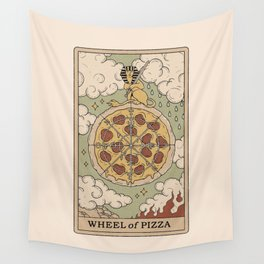 Wheel of Pizza Wall Tapestry