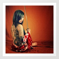 tatoo Art Prints featuring Tatoo by n23art