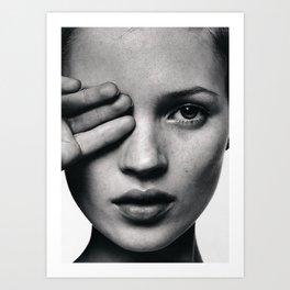 Kate Moss fashion Art Print