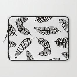 Postmodern Banana Leaves in Black + White Laptop Sleeve