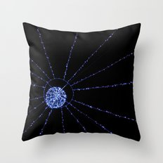 blue web Throw Pillow