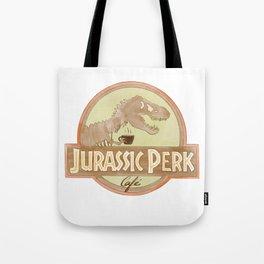 Jurassic Perk Cafe Tote Bag