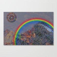 Mountain Series - Rainbow Canvas Print