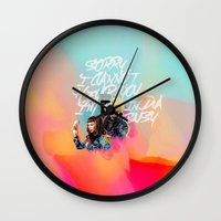 telephone Wall Clocks featuring telephone by evenstarss