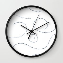 Celestial Stitches II Wall Clock