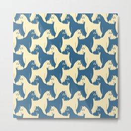 Dog Pattern   Schnauzer   M. C. Escher Inspired Artwork by Tessellation Art Metal Print