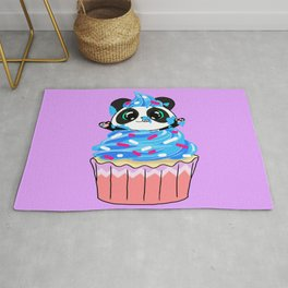 A Panda Popping out of a Cupcake Rug