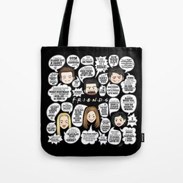 FRIENDS TV Lines Tote Bag