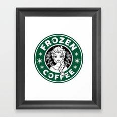 Frozen Coffee Framed Art Print
