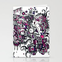 clockwork Stationery Cards featuring Clockwork by Voodoodle