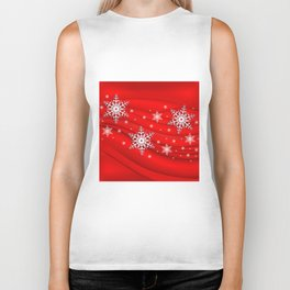 Abstract background with snowflakes Biker Tank