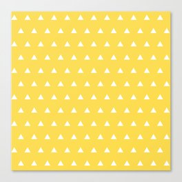 Triangles on a Sea of Yellow Canvas Print