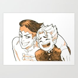 strange friends Art Print
