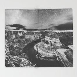 Southwest Starry Night Black and White Throw Blanket
