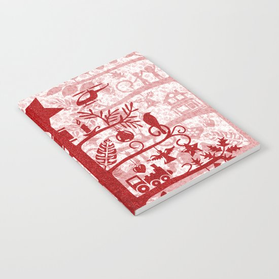 CHRISTMAS TREE red ITINERANT Notebook