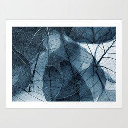 blue leaf III Art Print
