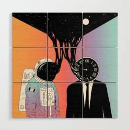 A Portrait of Space and Time ( A Study of Existence) Wood Wall Art