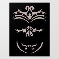maori Art Prints featuring Maori skull by Soso Creation