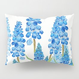 blue grape  hyacinth forest Pillow Sham