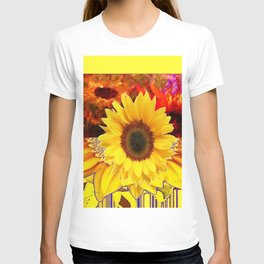 MODERN STYLE YELLOW  SUNFLOWERS ABSTRACT DESIGN T-shirt