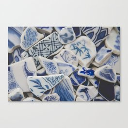 Japanese Sea Pottery - Collection I Canvas Print