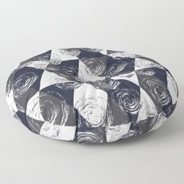 Circular Strokes Patched Pattern II Floor Pillow