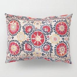 Shakhrisyabz Suzani Southwest Uzbekistan Embroidery Print Pillow Sham