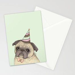 Happy B-day Pug Stationery Cards