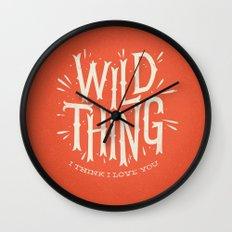 Wild Thing Wall Clock