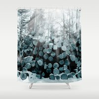 wood Shower Curtains featuring wood  by mark ashkenazi