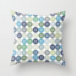 I love buttons Throw Pillow