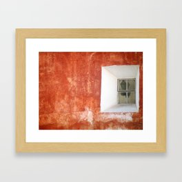 Street Lamp (Orange) Framed Art Print