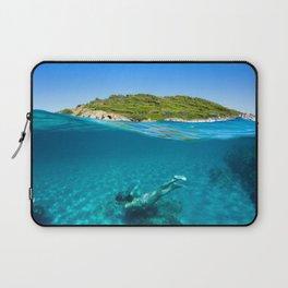 St Tropez Sea Three Laptop Sleeve