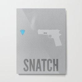 Snatch Minimalist Poster Metal Print