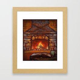 Fireplace (Winter Warming Image) Framed Art Print