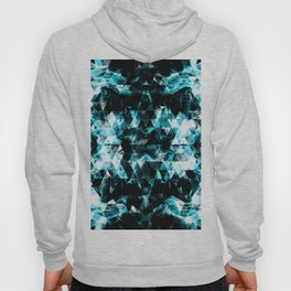 Electrifying blue sparkly triangle flames Hoody