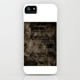The Four Agreements 2 iPhone Case