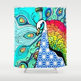 Gypsy Peacock Shower Curtain