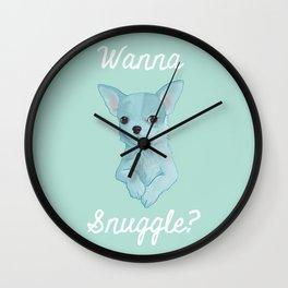 Wanna Snuggle? Wall Clock
