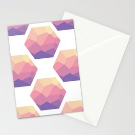 Low poly hexagons Stationery Cards