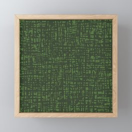 Fibre Mesh Pattern (Green) Framed Mini Art Print